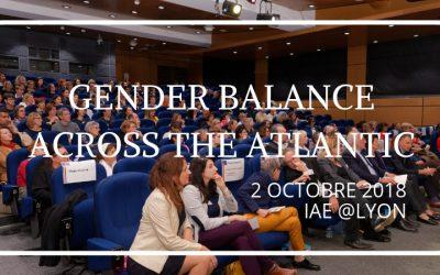 2 octobre 2018 – «Gender Balance Across the Atlantic»