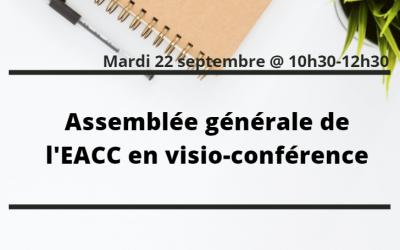 Assemblée Générale de l'EACC en visio-conférence