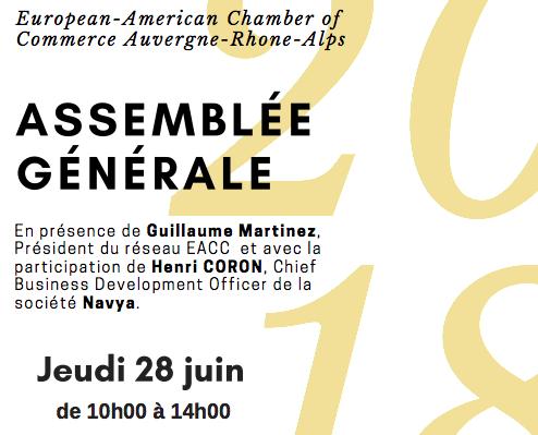 Assemblée Générale EACC AURA – jeudi 28 juin 2018